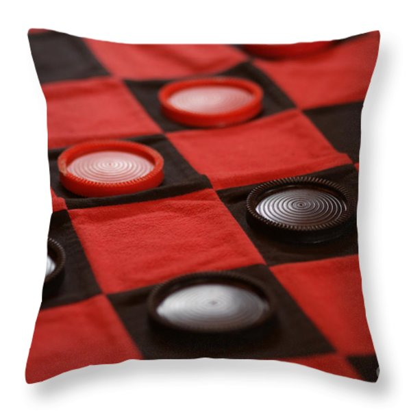 Games Throw Pillow by Linda Knorr Shafer