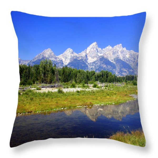 Gand Teton 42 Throw Pillow by Marty Koch