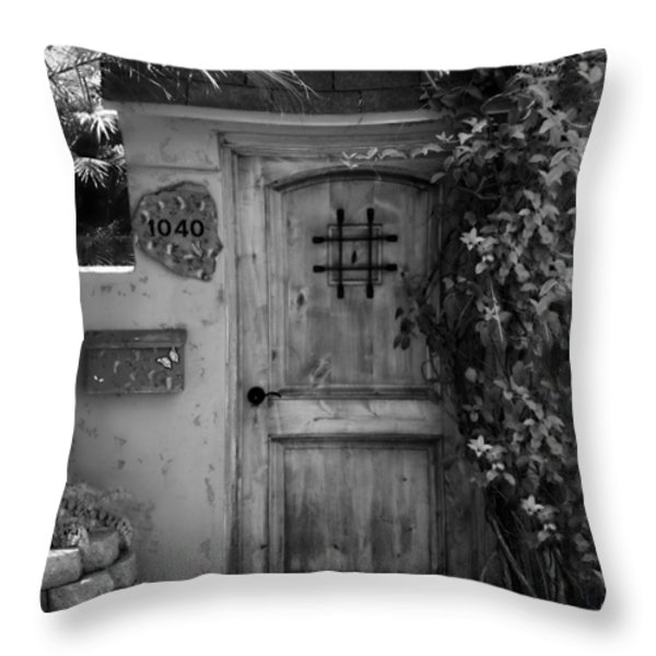 Garden Doorway 2 Throw Pillow by Perry Webster