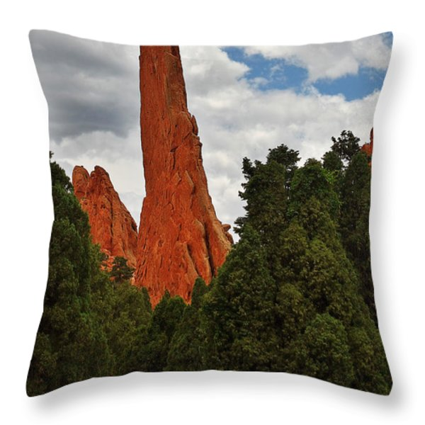 Garden Of The Gods - A Breathtaking Natural Wonder Throw Pillow by Christine Till