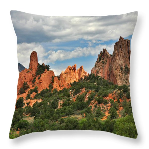 Garden of the Gods - Colorado Springs CO Throw Pillow by Christine Till