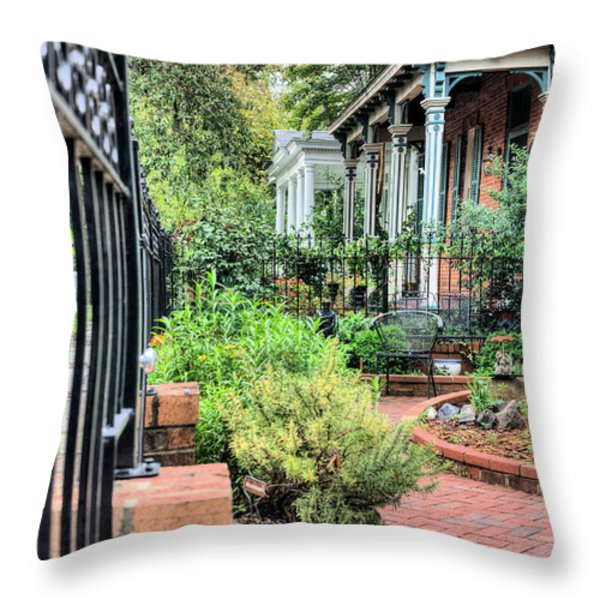 Garden Party Throw Pillow by JC Findley