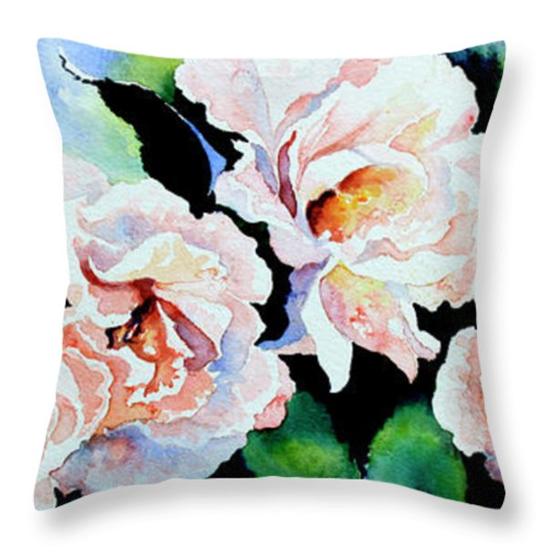 Garden Roses Throw Pillow by Hanne Lore Koehler