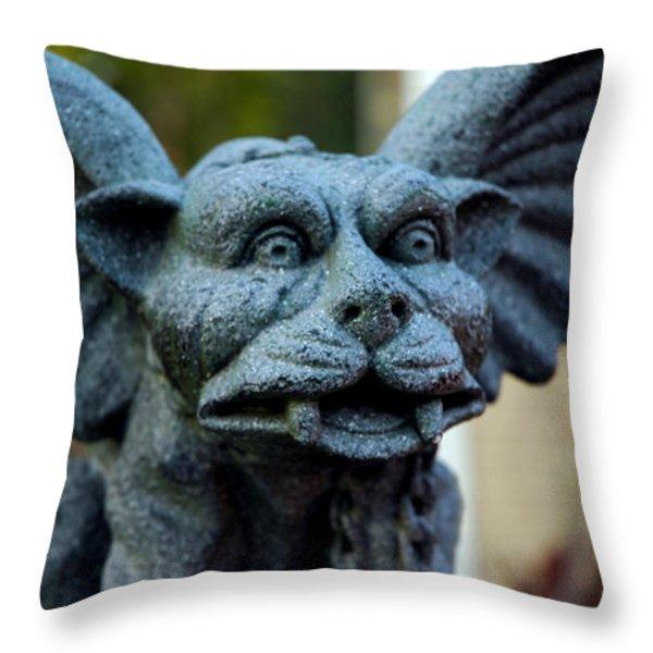 Gargoyle Throw Pillow by LeeAnn McLaneGoetz McLaneGoetzStudioLLCcom