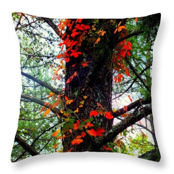 Garland of Autumn Throw Pillow by KAREN WILES