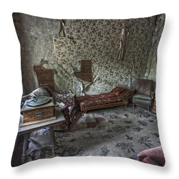 Garnet Ghost Town Hotel Parlor - Montana Throw Pillow by Daniel Hagerman