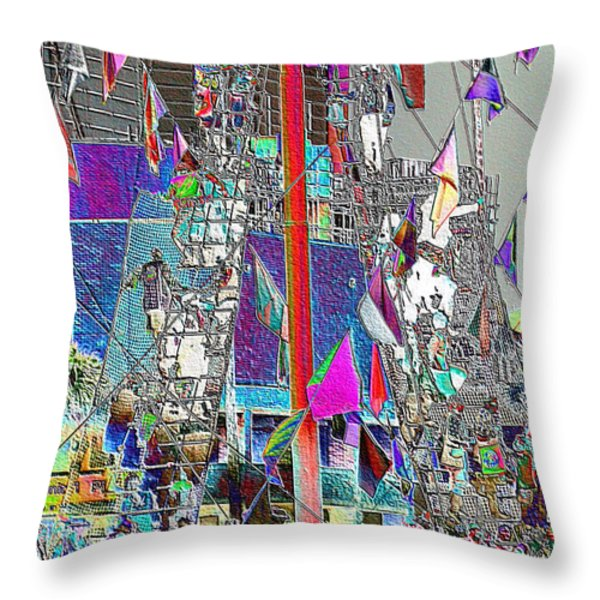 Gasparilla Pirates Invade Tampa Throw Pillow by Carol Groenen