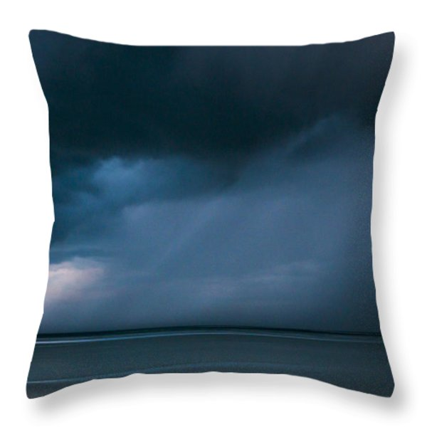 Gathering Storm Throw Pillow by John Greim