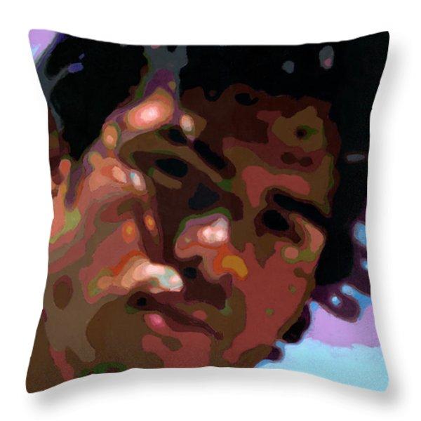 Gato Throw Pillow by Douglas Simonson