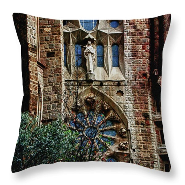 Gaudi Barcelona Throw Pillow by Tom Prendergast