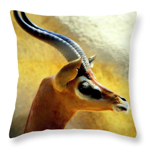 Gazelle Throw Pillow by KAREN WILES