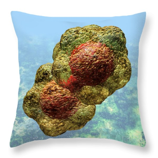 Geminivirus Particle Throw Pillow by Russell Kightley