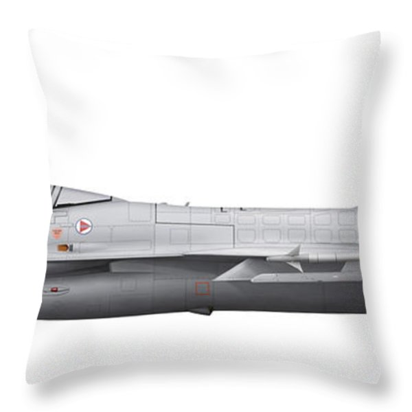 General Dynamics F-16a Fighting Falcon Throw Pillow by Chris Sandham-Bailey