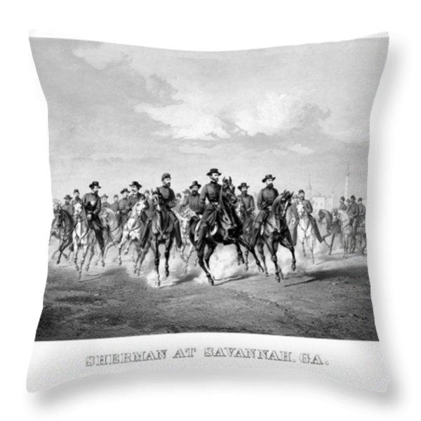 General Sherman At Savannah Throw Pillow by War Is Hell Store