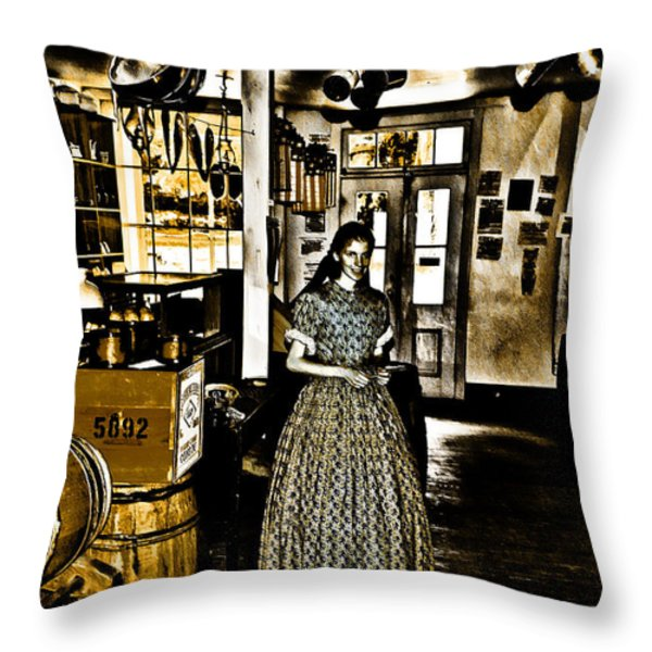 General Store Harpers Ferry Throw Pillow by Bill Cannon