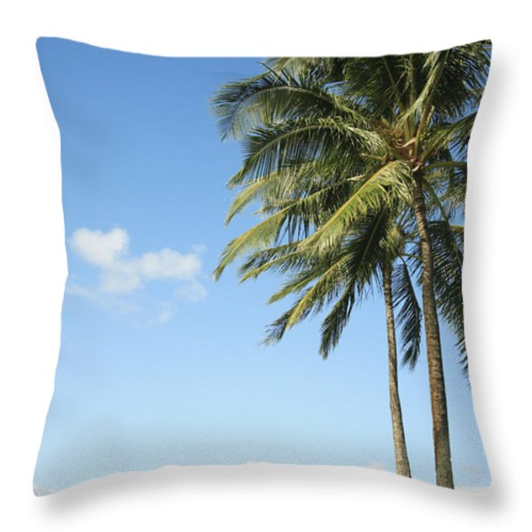 Generic Palm Tree Throw Pillow by Brandon Tabiolo - Printscapes