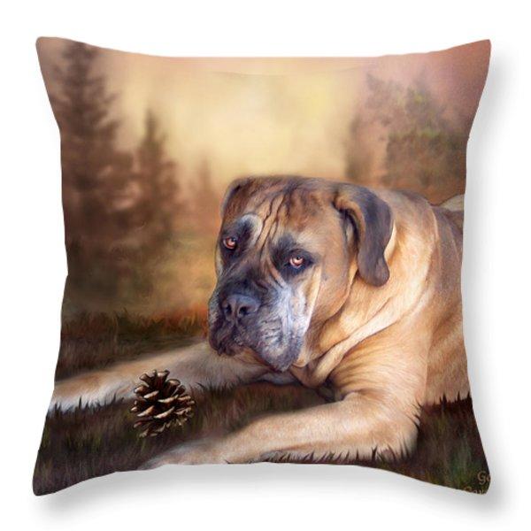 Gentle Ben Throw Pillow by Carol Cavalaris