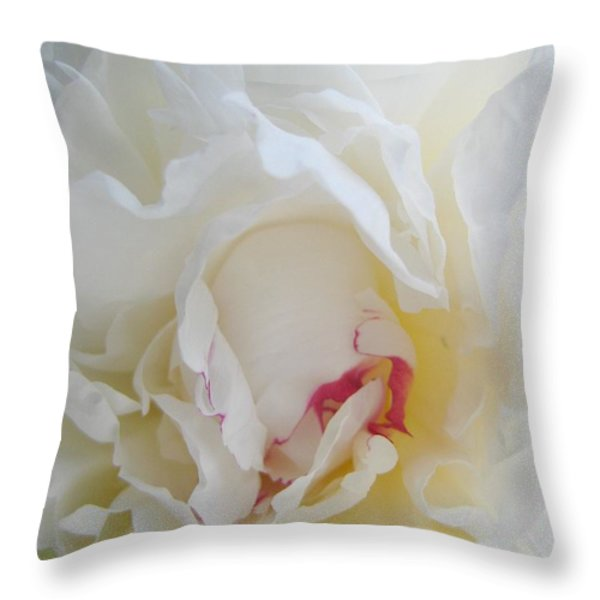 Gently Unfolding Throw Pillow by Shirley Sirois