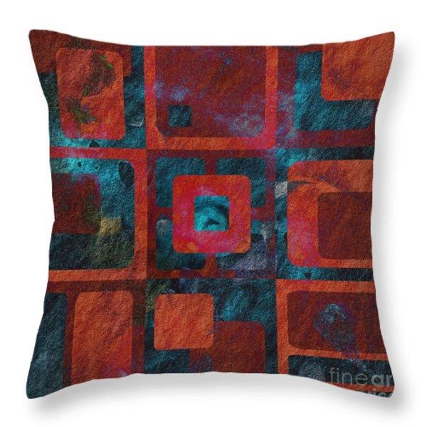 Geomix 02 - sp07c03b Throw Pillow by Variance Collections
