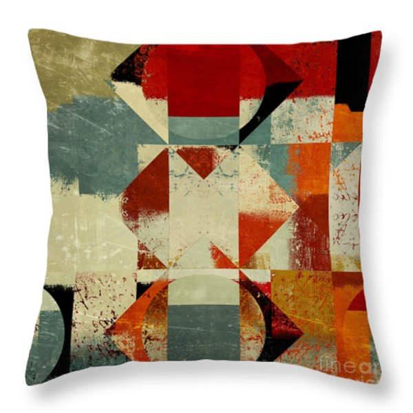 Geomix 04 - 39c3at227a Throw Pillow by Variance Collections
