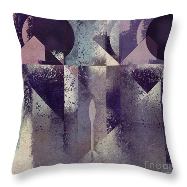 Geomix-04 - c57at22b2e Throw Pillow by Variance Collections
