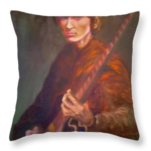 George Harrison Throw Pillow by Leland Castro