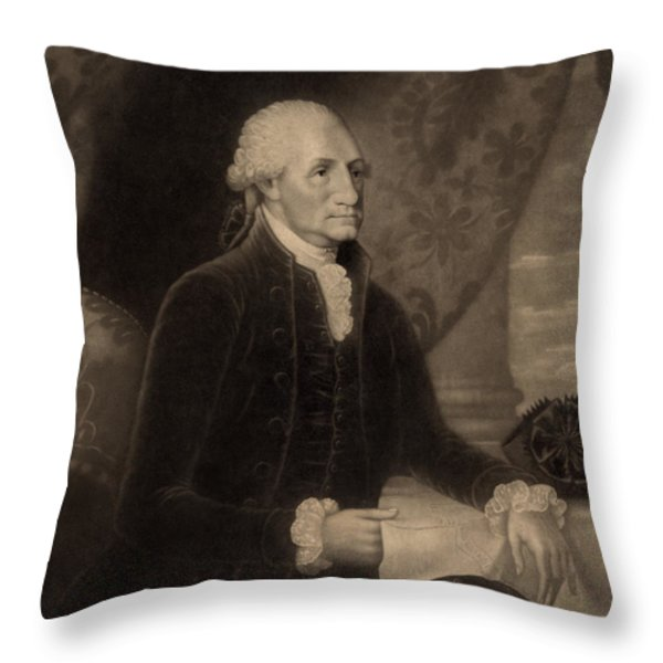 George Washington, 1st American Throw Pillow by Photo Researchers