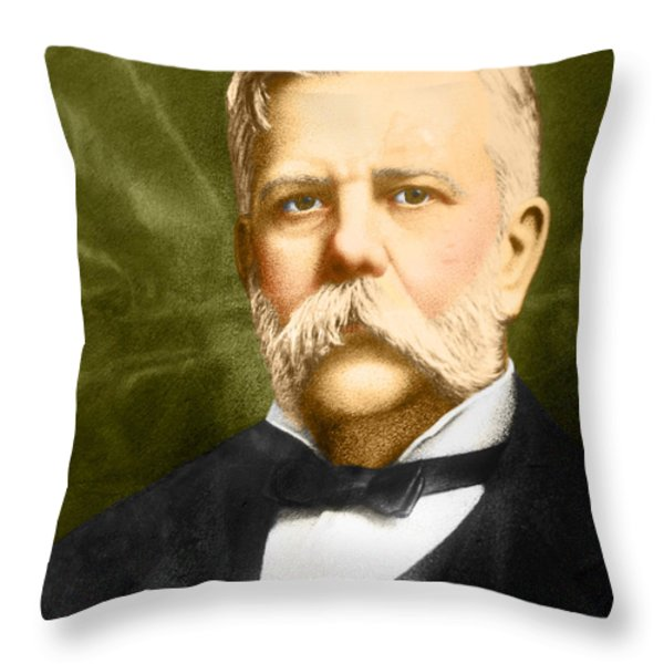 George Westinghouse Throw Pillow by Photo Researchers