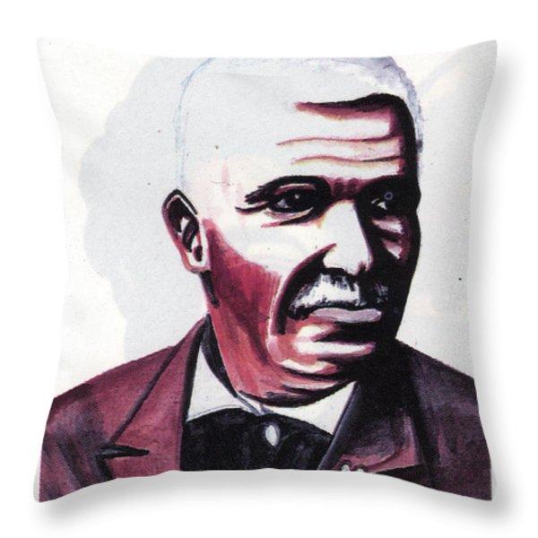Georges Washington Carver Throw Pillow by Emmanuel Baliyanga