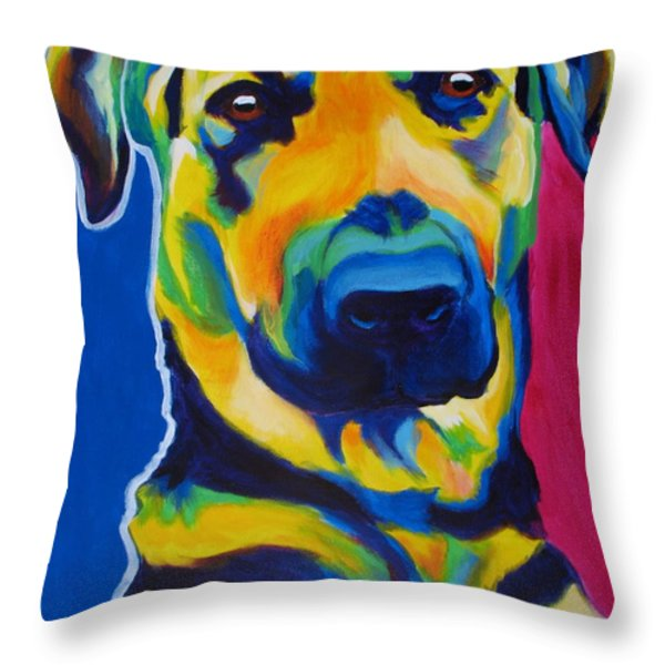German Shepherd - Duke Throw Pillow by Alicia VanNoy Call
