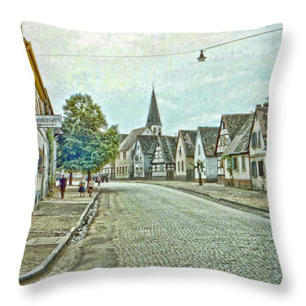 German Village Throw Pillow by Chuck Staley