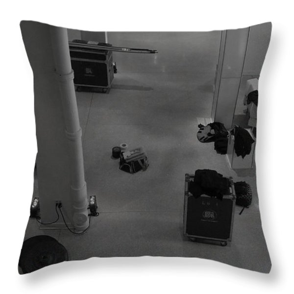Getting Ready To Gig Throw Pillow by Anna Villarreal Garbis