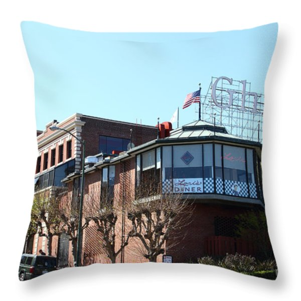 Ghirardelli Chocolate Factory San Francisco California . 7d14093 Throw Pillow by Wingsdomain Art and Photography