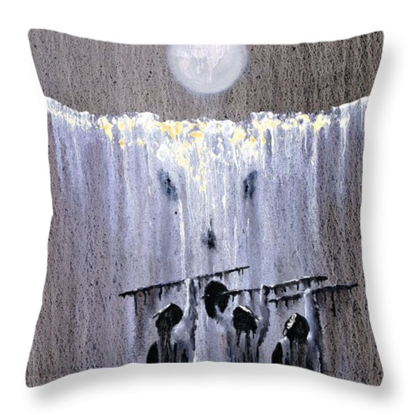 Ghost Dance Throw Pillow by Patrick Trotter