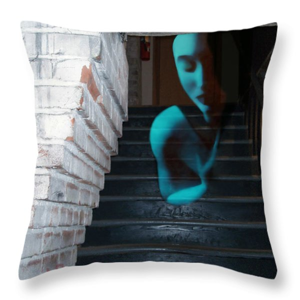 Ghost of Pain - Self Portrait Throw Pillow by Jaeda DeWalt