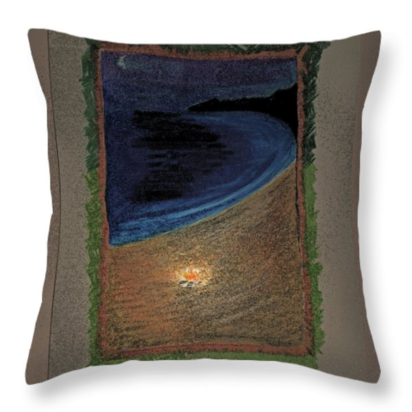 Ghost Stories Barra De Navidad Throw Pillow by First Star Art