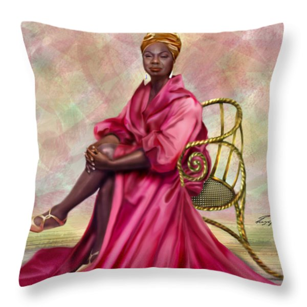 Gifted And Black-no Longer Looking Back Throw Pillow by Reggie Duffie