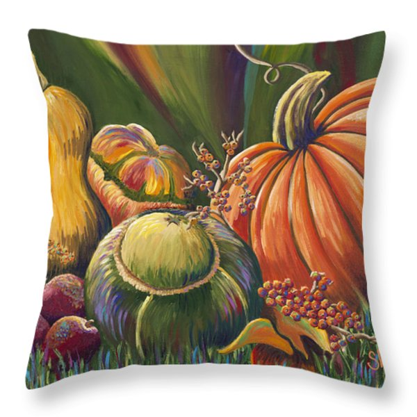Gifts Of Autumn Throw Pillow by Shawna Elliott