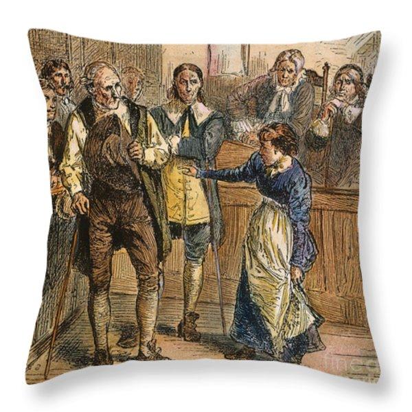 Giles Corey, 1692 Throw Pillow by Granger
