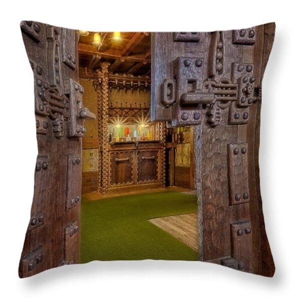 Gillette Castle's Bar Throw Pillow by Susan Candelario