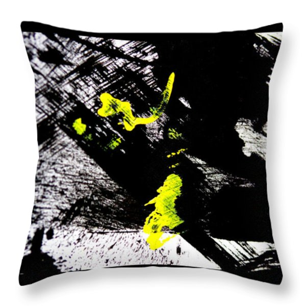 Girl And Her Cat Throw Pillow by Marie Jamieson