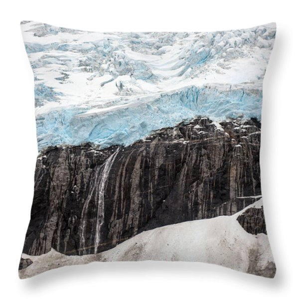 Glacial Edge Waterfall Throw Pillow by Mike Reid