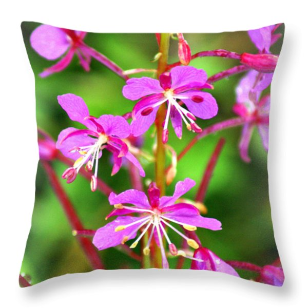 Glacier Purple Throw Pillow by Marty Koch