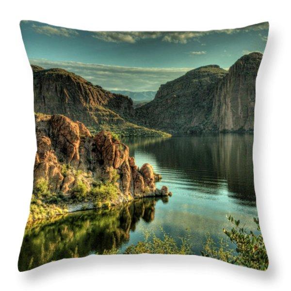 Glass Lake Throw Pillow by Saija  Lehtonen