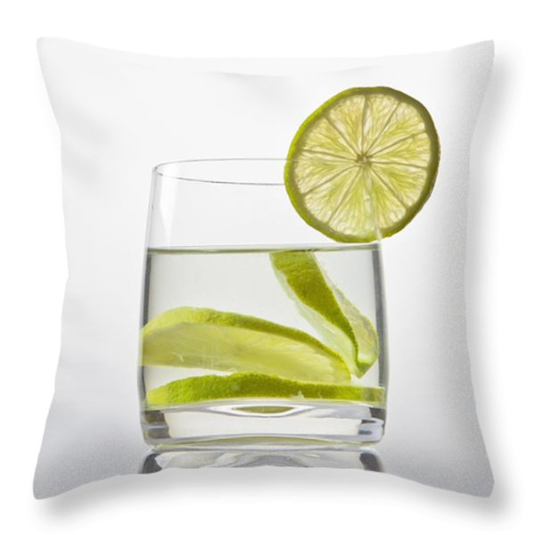 Glass With Lemonade Throw Pillow by Joana Kruse