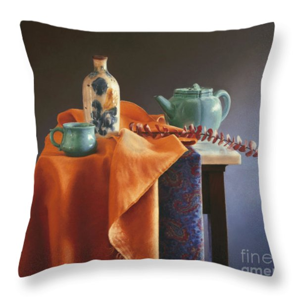 Glazed with Light Throw Pillow by Barbara Groff