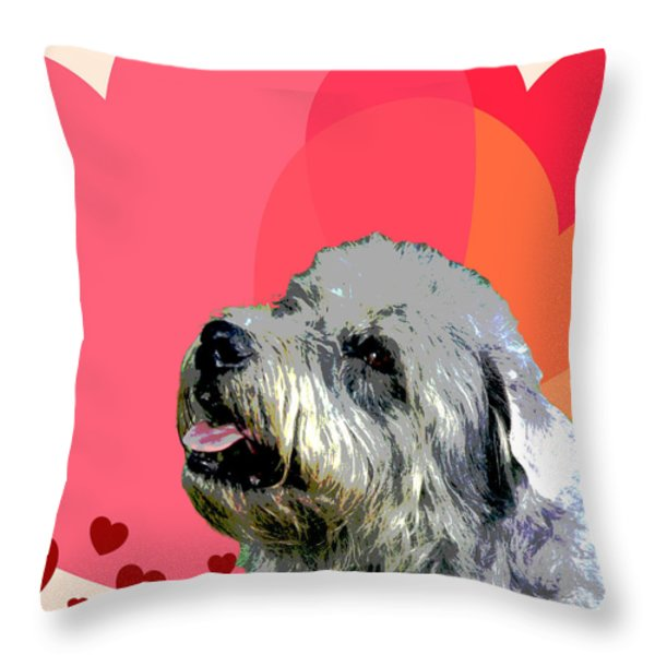 Glen Of Imaal Terrier Throw Pillow by One Rude Dawg Orcutt