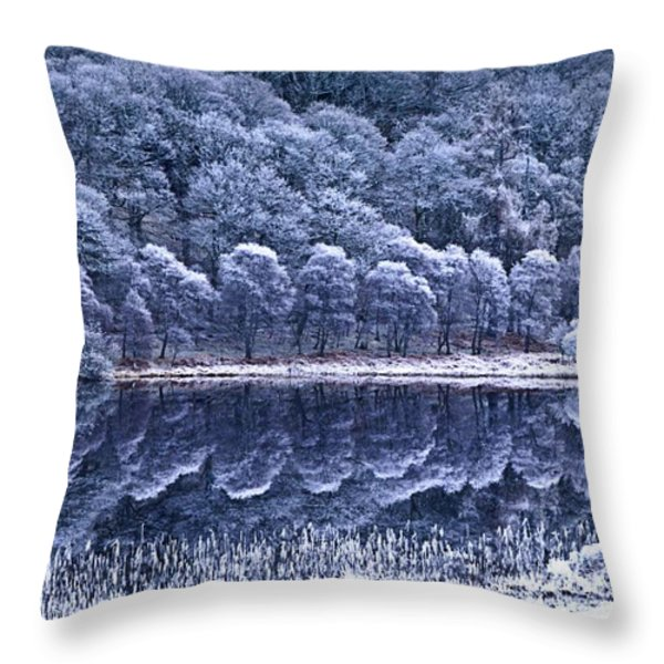Glendalough National Park, County Throw Pillow by Richard Cummins