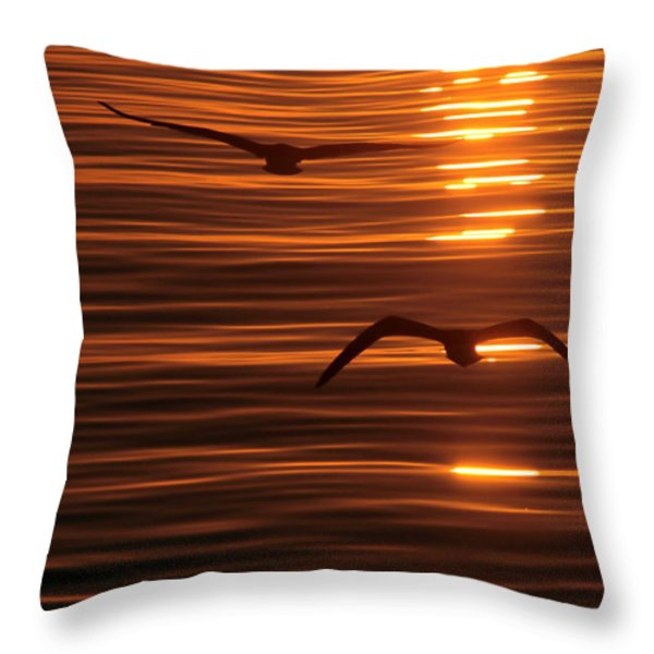 Glimmering Throw Pillow by Andrew  Hewett