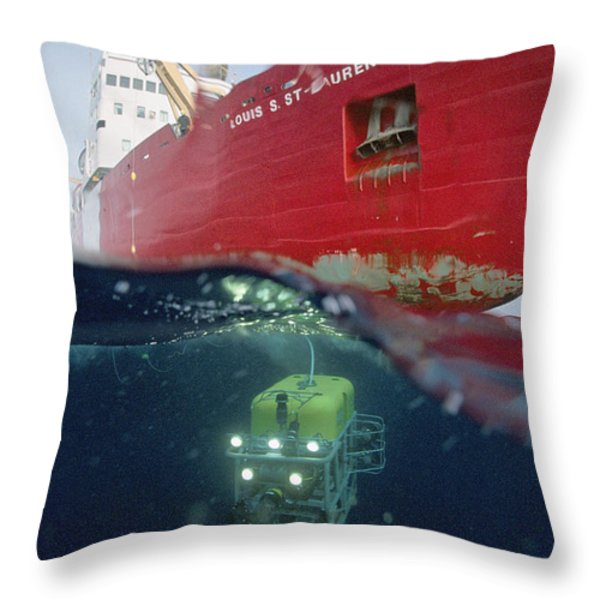 Global Explorer, An Rov Capable Throw Pillow by Paul Nicklen